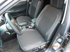 Авточехлы Premium для салона Mitsubishi Lancer 9 '04-09 серая строчка (MW Brothers)