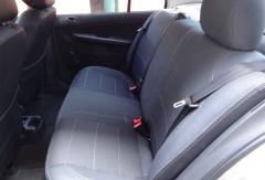 Авточехлы Premium для салона Skoda Fabia II '07-14 серая строчка, с цельной спинкой (MW Brothers)