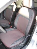 Авточехлы Premium для салона Volkswagen Polo '10-, седан красная строчка, с цельной спинкой (MW Brothers)