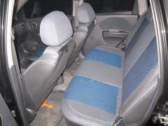 Фото 2 - Авточехлы Premium для салона Chevrolet Aveo '04-11, седан синяя строчка (MW Brothers)