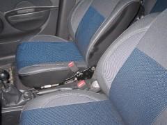 Фото 3 - Авточехлы Premium для салона Chevrolet Aveo '04-11, седан синяя строчка (MW Brothers)