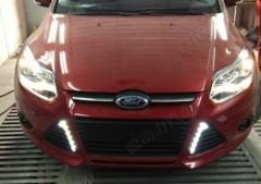 Фото 4 - Дневные ходовые огни для Ford Focus '12- V2 (LED-DRL)