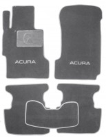 Коврики в салон для Acura TL '03-08 текстильные, серые (Люкс)