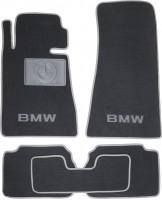 Коврики в салон для BMW 5 E34 '88-96 текстильные, серые (Люкс)