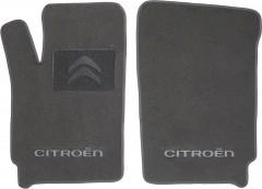Фото 1 - Коврики в салон для Citroen Berlingo '97-07 текстильные, серые (Люкс) передние