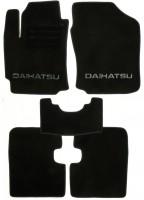 Коврики в салон для Daihatsu Sirion '05-10 текстильные, черные (Люкс)
