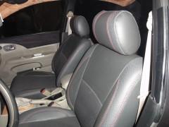 Авточехлы Premium для салона Ford Focus III '11-, хетчбек красная строчка (MW Brothers)