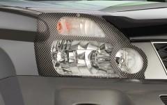 Защита фар для Nissan X-trail '08-15 карбон 2 шт (EGR)