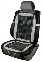 Накидка на сиденье CN 12511 с косточками MF-831-2 серая