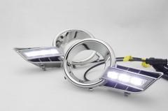 Дневные ходовые огни для Toyota Highlander '08-10 V2 (LED-DRL)