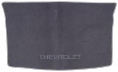 Коврик в багажник для Chevrolet Aveo '03-06 хетчбэк, текстильный серый