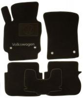 Коврики в салон для Volkswagen Caddy '04-15 текстильные, черные (Люкс) 4 клипсы