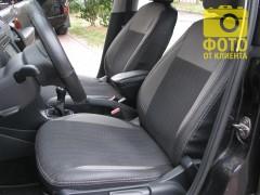 Авточехлы Premium для салона Volkswagen Polo '10-, седан серая строчка. , с деленой спинкой (MW Brothers)