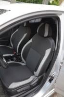 Авточехлы Premium для салона Hyundai Accent (Solaris) '11-, седан, с цел. спин., серая строчка (MW Brothers)