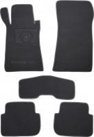 Коврики в салон для Mercedes CLK W209 '02- текстильные, серые (Премиум)