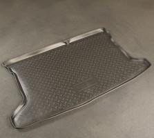 Коврик в багажник для Hyundai Accent (Solaris) '11- хетчбэк, полиуретановый (NorPlast) черный