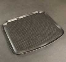 Коврик в багажник для Seat Leon '05-12, полиуретановый, с докаткой (NorPlast) черный