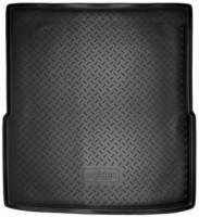 Коврик в багажник для Volkswagen Passat B7 '10-14 универсал, полиуретановый (NorPlast) черный