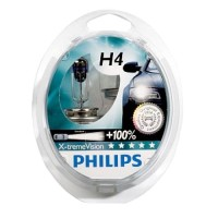 Philips ������������� �������� Philips X-tremeVision H4 12V (�������� 2��)