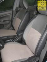 Авточехлы Premium для салона Nissan Almera Classic '06-13 серая строчка с отдельными задними подголовниками (MW Brothers)