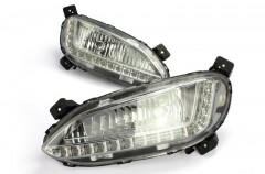 Дневные ходовые огни для Hyundai Santa Fe '13- (LED-DRL)