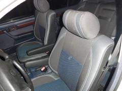 Авточехлы Premium для салона BMW 5 E34 '88-96 синяя строчка, с полноценным задним подлокотником MW Brothers