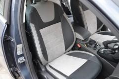 Авточехлы Leather Style для салона Focus III '11-, седан серая строчка (MW Brothers)