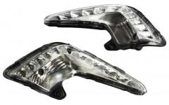 Дневные ходовые огни для Kia Rio '12-15, V2 (ПТФ) (LED-DRL)