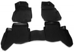 Коврики в салон для Ford Ranger T6 '11- полиуретановые, черные (L.Locker)