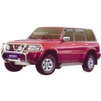 Метал. защита переднего бампера для Nissan Patrol '00-02