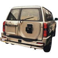 Метал. защита заднего бампера для Nissan Patrol '05-on