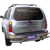 Метал. защита заднего бампера для Nissan Paladin '03-06