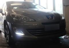 Дневные ходовые огни для Peugeot 408 '12- (LED-DRL)