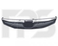 Решетка радиатора для Honda Civic 4d '09-12 черная с хром накладкой (FPS)