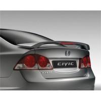 Задний спойлер на багажник для Honda Civic 4D '06-12, со стоп. сигн (Витол)