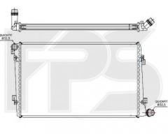 Радиатор охлаждения двигателя для SEAT / SKODA / VW (BEHR) FP 62 A171-X