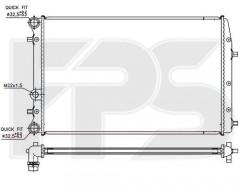 Радиатор охлаждения двигателя для SEAT / SKODA / VW (FPS) FP 64 A435-P