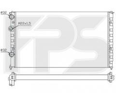 Радиатор охлаждения двигателя для VW (NRF) FP 74 A363-X