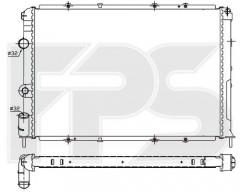 Радиатор охлаждения двигателя для RENAULT (NRF) FP 56 A381-X
