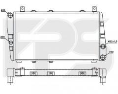 Радиатор охлаждения двигателя для SKODA (NISSENS) FP 64 A622
