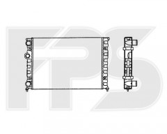 Радиатор охлаждения двигателя для VW (FPS) FP 74 A427-P