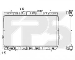 Радиатор охлаждения двигателя для HYUNDAI (KOYORAD) FP 32 A676-X