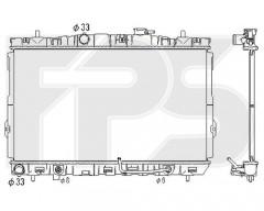 Радиатор охлаждения двигателя для HYUNDAI (KOYORAD) FP 32 A677-X