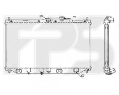 Радиатор охлаждения двигателя для HONDA (KOYORAD) FP 30 A951-X