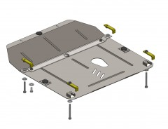 Кольчуга Защита картера двигателя для Chevrolet Cruze '11-, АКПП/МКПП кроме 1,7 CRDI, V-все дизель (Кольчуга)