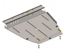 Защита картера двигателя и КПП, радиатора для Ford Connect '02-13, V-все (Кольчуга)