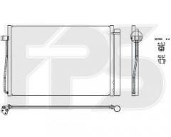 Радиатор кондиционера для BMW (BEHR) FP 14 K20-X