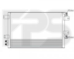 Радиатор кондиционера для DODGE (Nissens) FP 24 K73