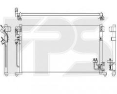 Радиатор кондиционера для MITSUBISHI (FPS) FP 48 K473