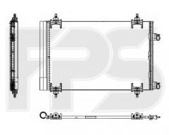 Радиатор кондиционера для CITROEN / PEUGEOT (NRF) FP 54 K436